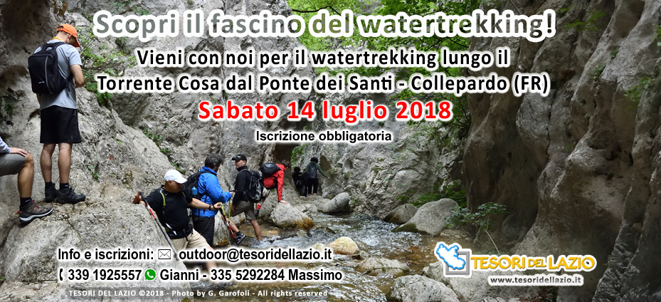 TESORIDELLAZIO Outdoor - Escursione watertrekking torrente Cosa (FR) - 14-07-2018 - banner162
